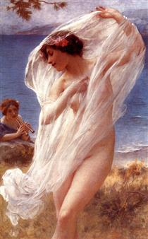 A Dance By The Sea - Charles-Amable Lenoir