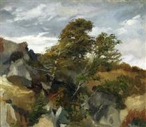 Landscape from Bortniki Upon Dniester - Henryk Rodakowski