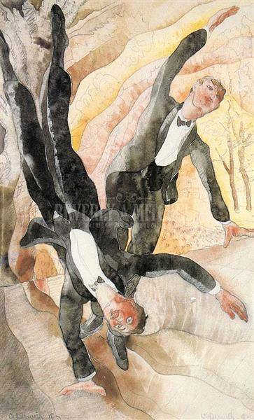 Two Acrobats, 1918 - Charles Demuth