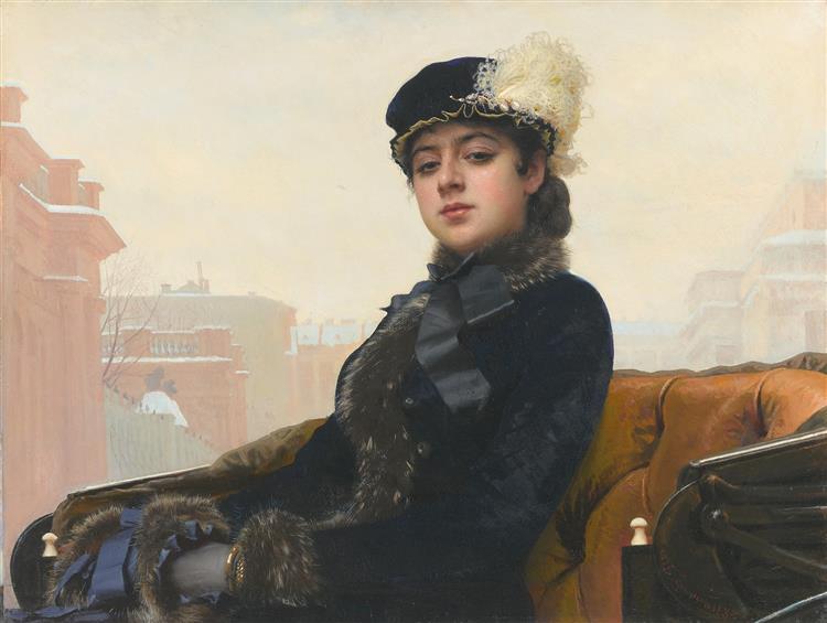 Portrait of unknown woman, 1883 - Ivan Kramskoy