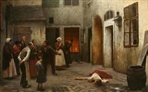Murder in the House - Jakub Schikaneder
