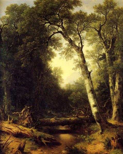 Creek in the Woods - Asher Brown Durand