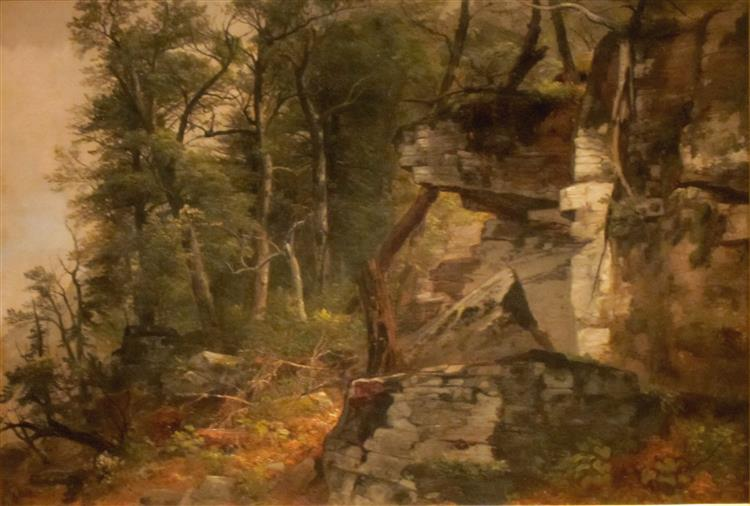 Trees on a Rocky Hillside - Asher Brown Durand