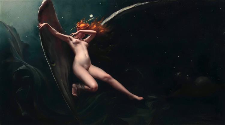 A Fairy Under Starry Skies - Luis Ricardo Falero