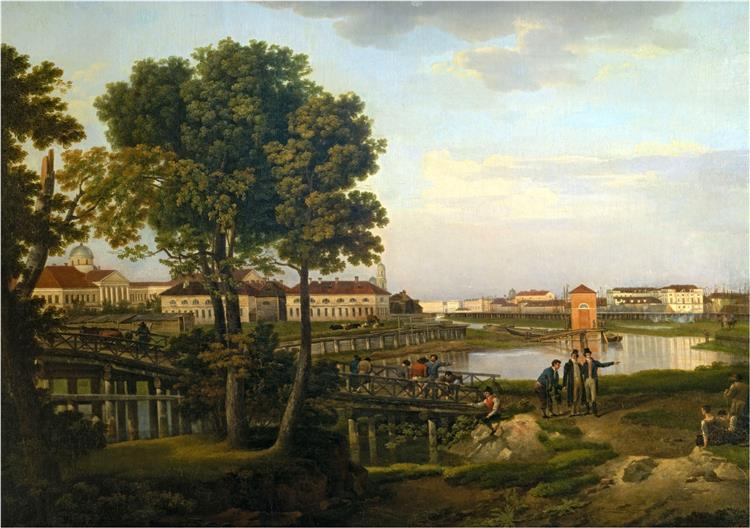 View from Petrovsky island in St Petersburg, 1816 - Silvestr Shchedrin