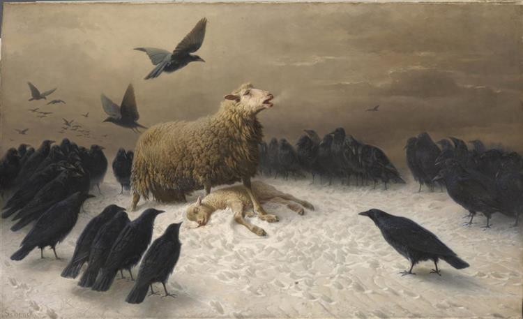 Anguish, 1878 - August Friedrich Schenck