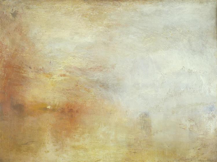 Sun Setting over a Lake, c.1840 - J.M.W. Turner