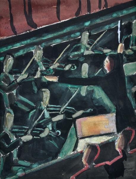 The Orchestra Pit, Theatre Royal, c.1935 - Dorrit Black