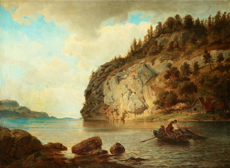 På Kystenby the Coast - Hans Gude