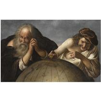 Heraclitus and Democritus - Johan Moreelse
