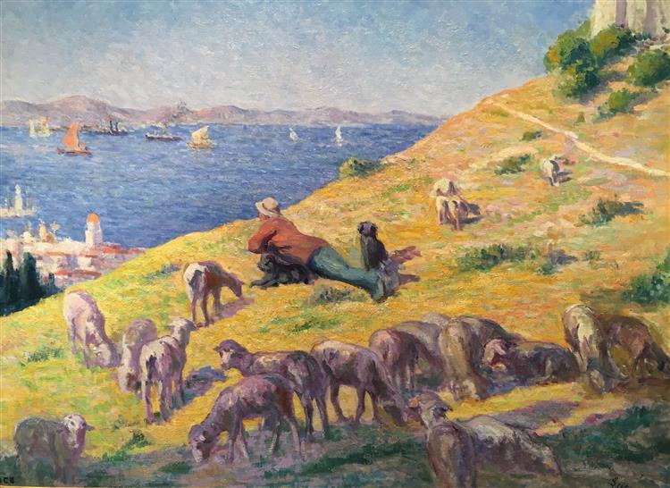 The Shepherd Observing the Sea, 1905 - 1906 - Maximilien Luce
