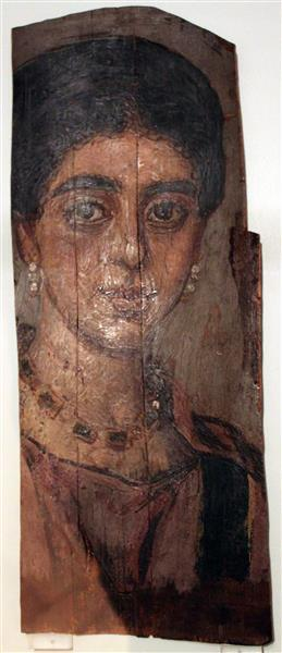 Mummy Portrait of a Rich Woman Anagoria - Fayum portrait