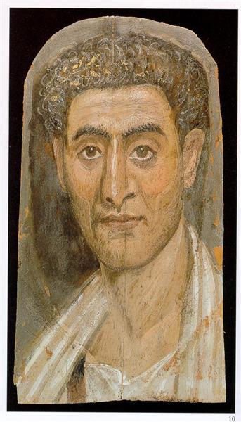 Fayum Mummy Portrait, 100 - Fayum portrait