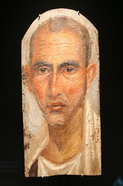 Mummy Portrait of a Man, c.50 - Fayum portrait