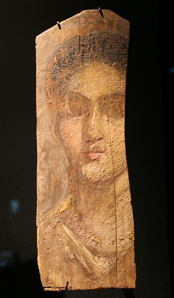 Mummy Portrait of a Young Woman, c.50 - Fayum portrait