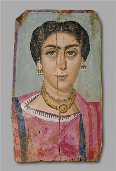Woman with Necklace - Fayum portrait