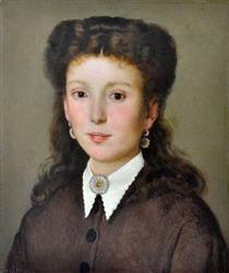 Ritratto a Maria Virginia Fabroni Di Silvestro Lega - Silvestro Lega