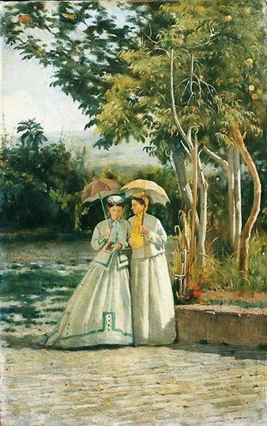 A Walk in the Garden - Silvestro Lega