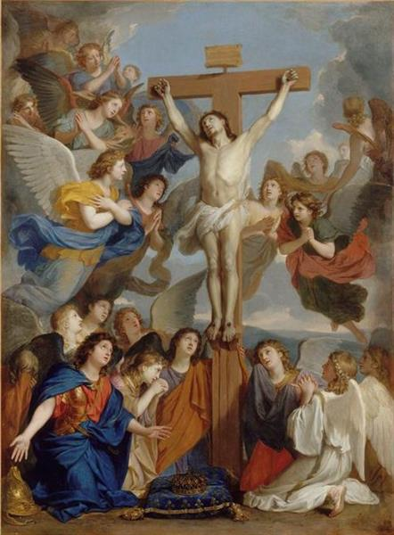 Le Crucifix Aux Anges - Charles Le Brun
