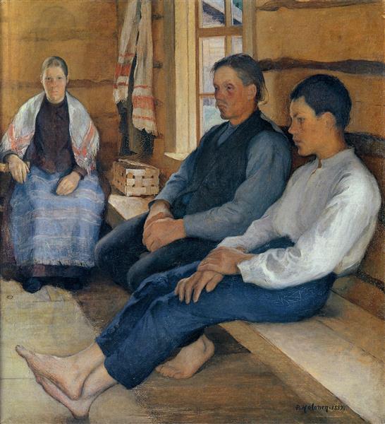 Sunday in a Crofter´s Cottage, 1894 - Halonen, Pekka