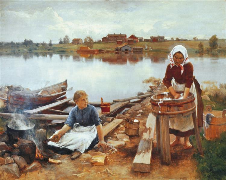 Laundry at the river bank, 1889 - Eero Järnefelt