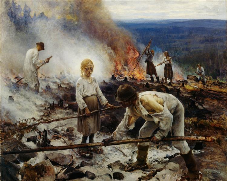 Under the Yoke (Burning the Brushwood), 1893 - Eero Järnefelt