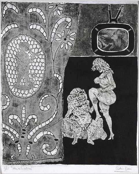 Behind the Curtain, 1963 - Antonio Berni