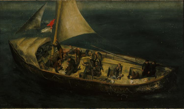 A Ship's Boat at Sea, 1941 - Richard Eurich