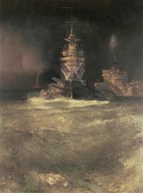 D Day, Reconstruction (Battleships at Sea) - Richard Eurich