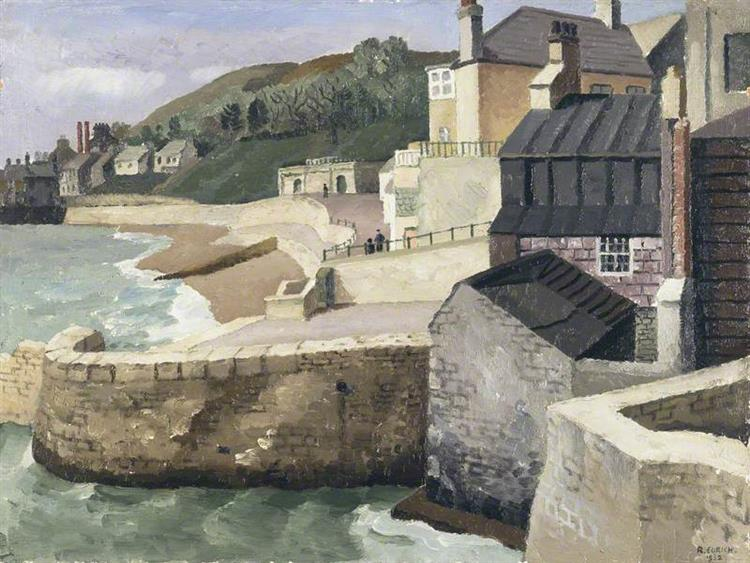From the Old Walls, Lyme Regis, 1932 - Richard Eurich