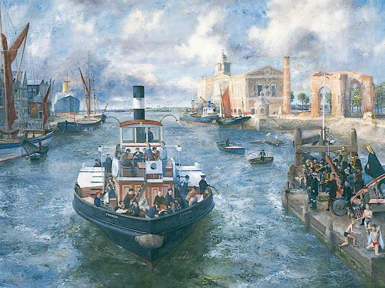The Ferryboat 'Charon', 1950 - Richard Eurich