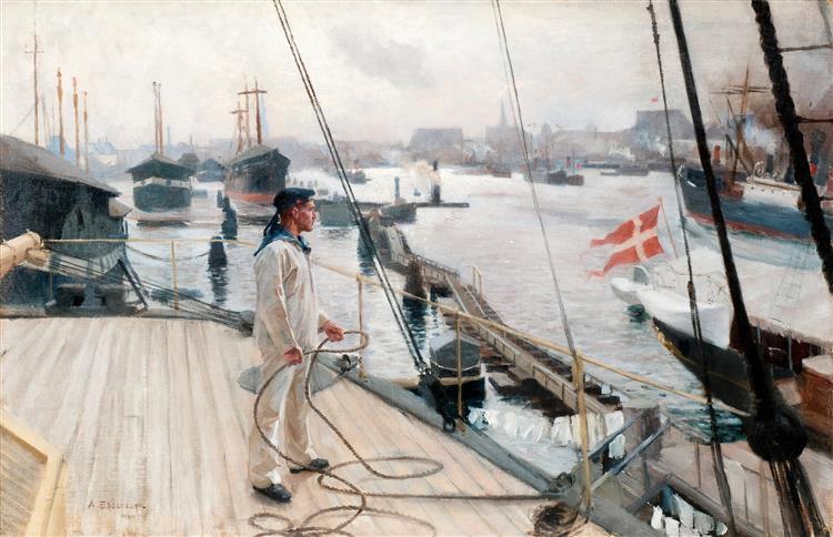 Kööpenhaminan Ankkuripaikalta I - Albert Edelfelt