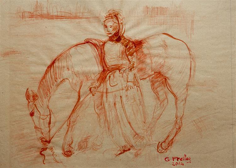 Albanian with horse, 2014 - Gazmend Freitag