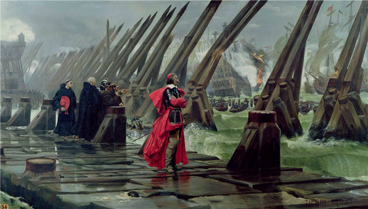 Cardinal Richelieu at the Siege of La Rochelle - Henri-Paul Motte