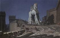 The Trojan horse - Henri-Paul Motte