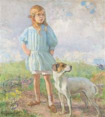 Flickan Med Hunden - Järnefelt, Eero