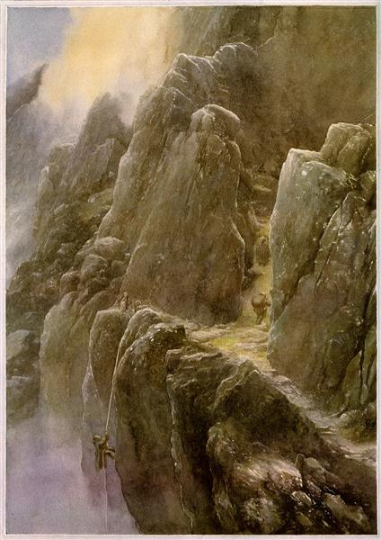 On the Doorstep (Hobbit) - Alan Lee