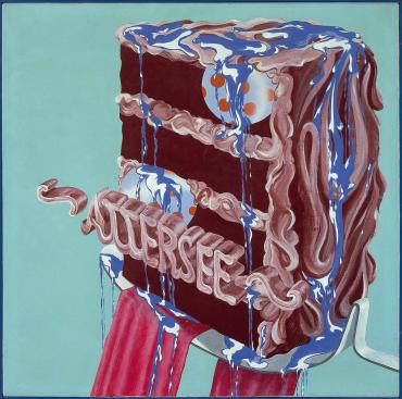 TORTE MIT SPEISEKUGELN UND SPEISEBLAU, 1967 - Christian Ludwig Attersee