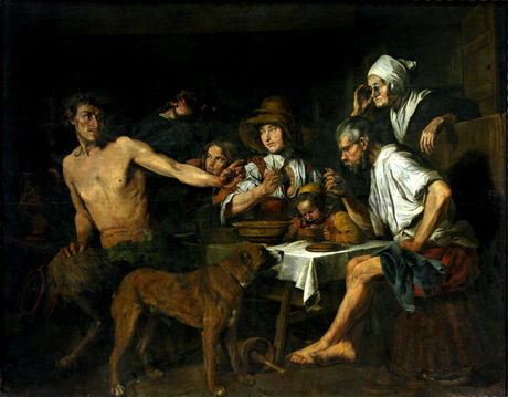Satyr as a Guest of a Peasant, c.1620 - Jan Cossiers