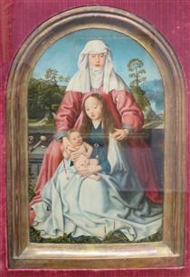 Virgin and Child with St. Anne - Jan Joest