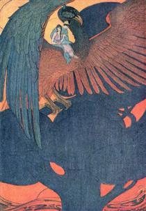 Illustration of Soaring Lark of Grimm's Fairy Tales - Elenore Abbott