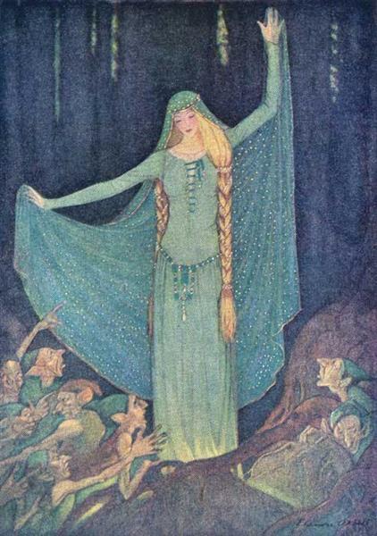 "The Two Kings' Children"" in Grimms' Fairy Tales, 1920 - Elenore Abbott"