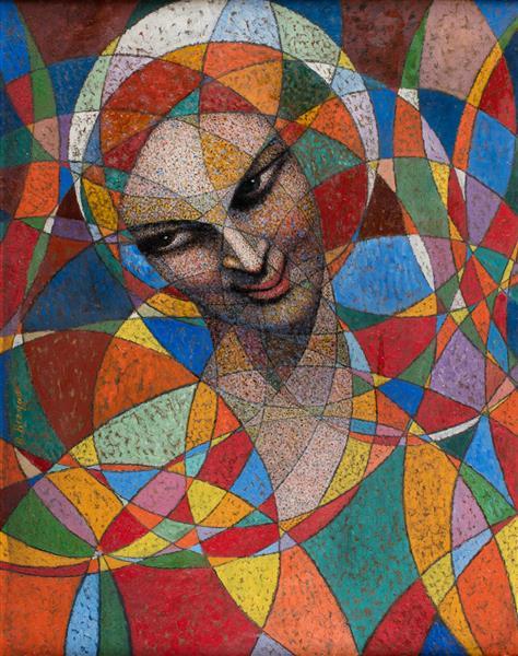 Spherical portrait - Hindu woman, 1943 - Boleslas Biegas