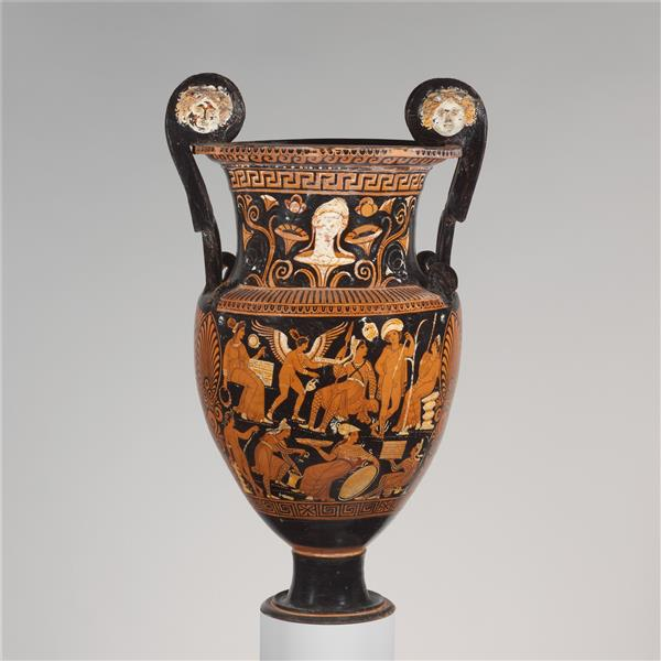 Terracotta Volute Krater (mixing Bowl), c.310 BC - Ancient Greek Pottery