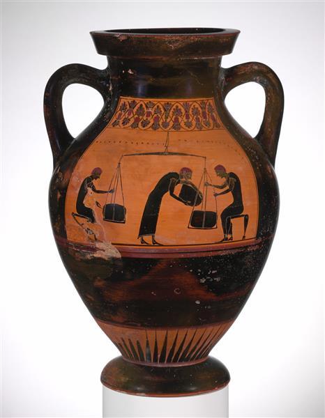 Terracotta Amphora (jar), c.530 BC - Ancient Greek Pottery
