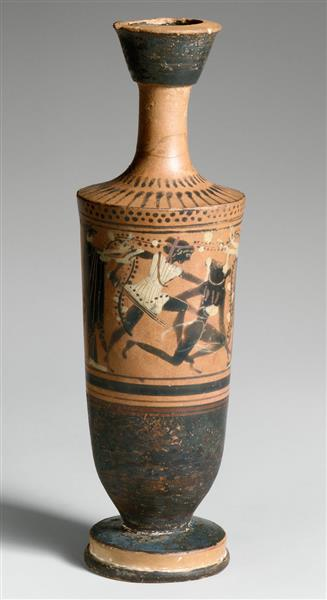 Terracotta Lekythos (oil Flask), c.500 BC - Ancient Greek Pottery