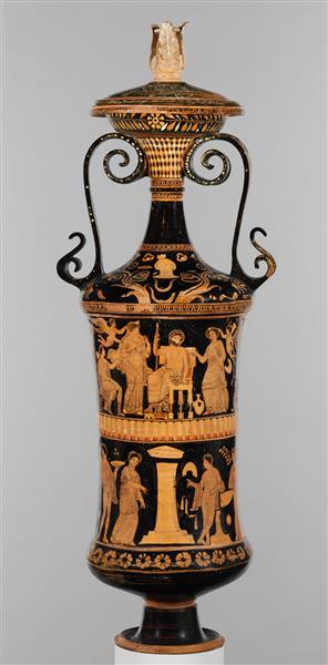 Terracotta Loutrophoros (ceremonial Vase for Water), c.330 BC - Ancient Greek Pottery