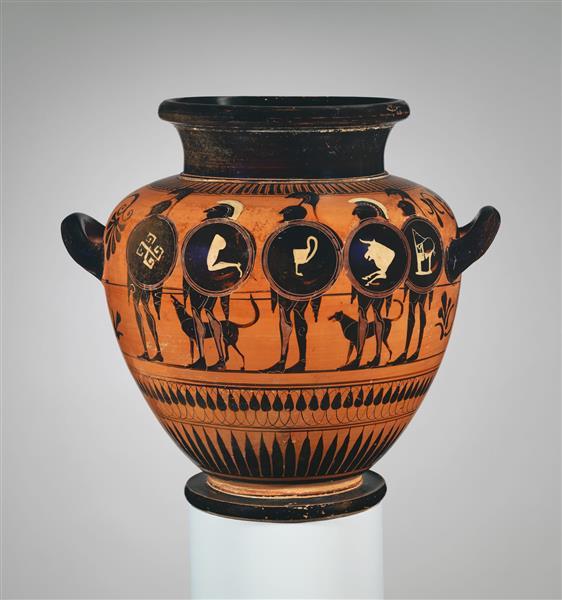 Terracotta Stamnos (jar), c.525 BC - Ancient Greek Pottery