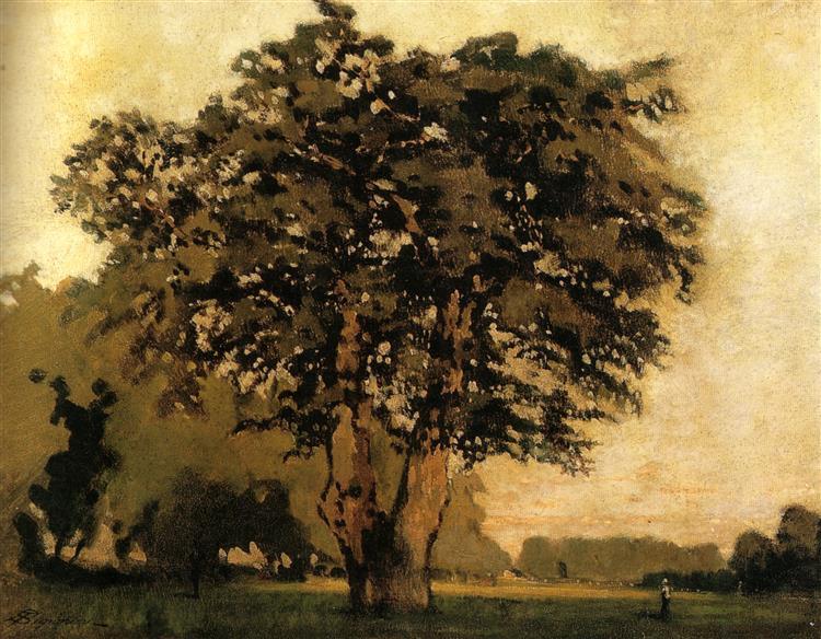 Il Quercione alle cascine, 1866 - Telemaco Signorini