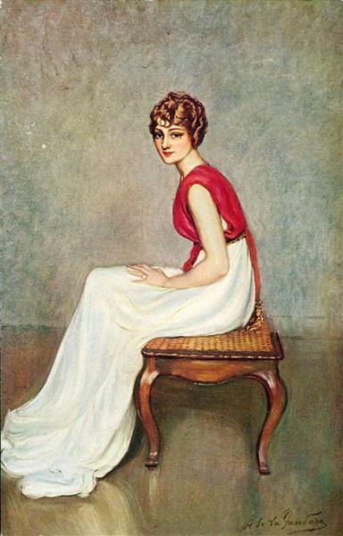 Portrait of the Actress Jane Renouardt, 1913 - Antonio de La Gándara